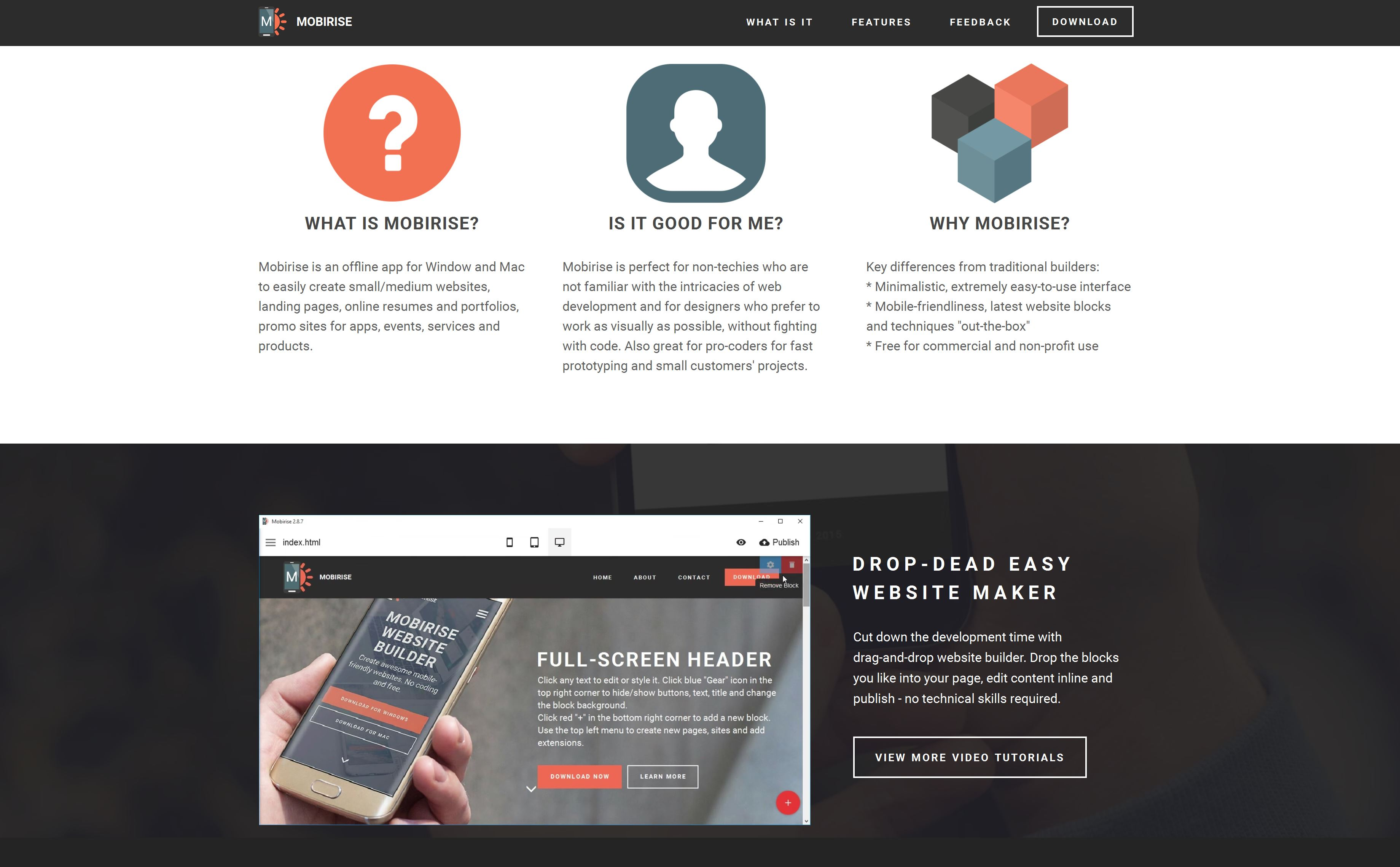 Mobirise Bootstrap Site Builder Template