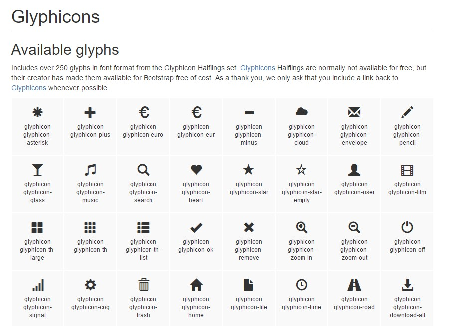 Collection of the icons